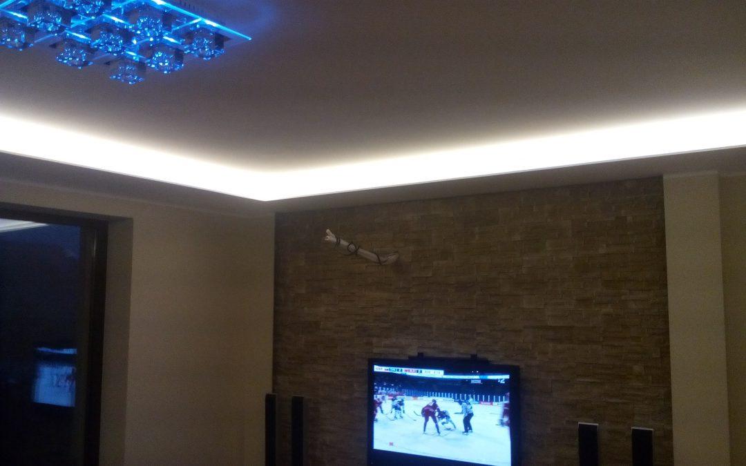 LED podsvietenie stropov